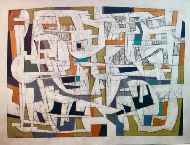 Hossein Khosrojerdi: 100 x 120 cm /Acrylic on Cardboard