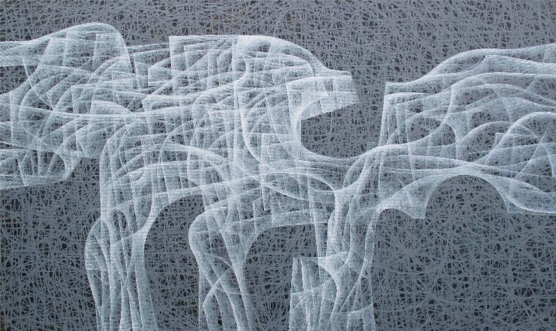 Hossein Khosrojerdi: 100 x 170 cm /Acrylic on canvas / 2017
