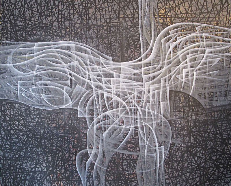 Hossein Khosrojerdi: 122x152 cm / Acrylic on canvas  / 2017