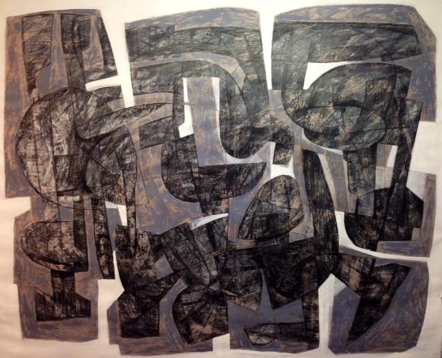 Hossein Khosrojerdi: 130 x 150 cm /Mixed Media on Cardboard