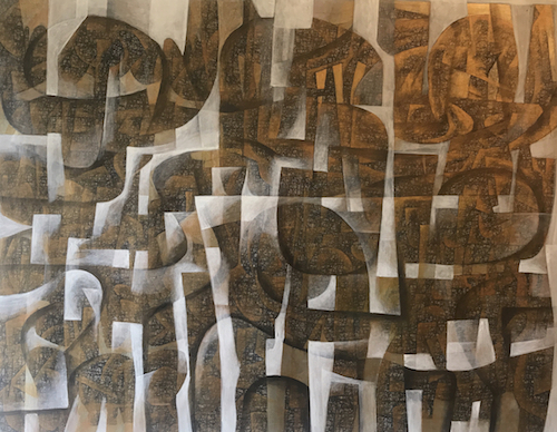 Hossein Khosrojerdi: 105 x 85 cm / Acrylic on Canvas